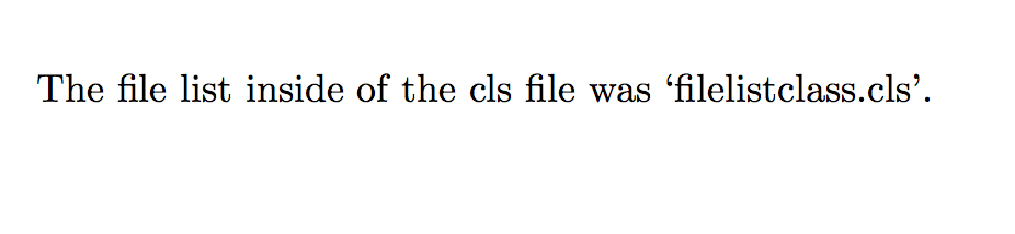 The file list inside of the cls file was 'filelistclass.cls'.