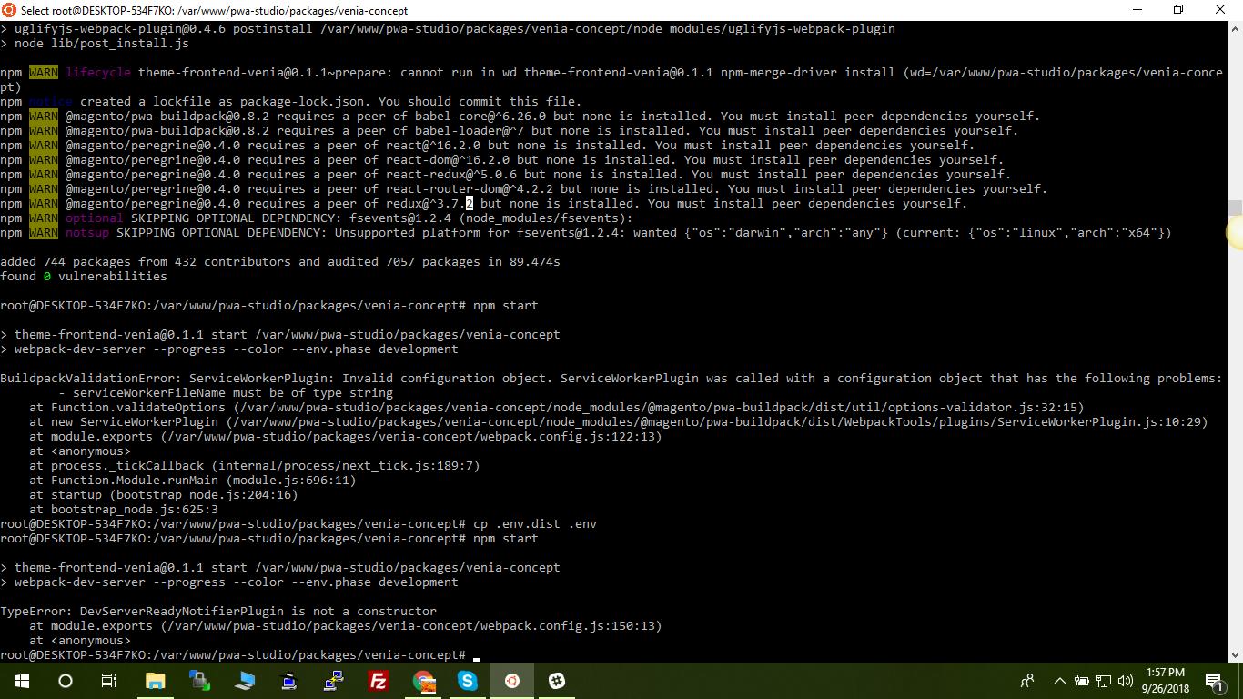 npm install error/failed · Issue #236 · magento/pwa-studio