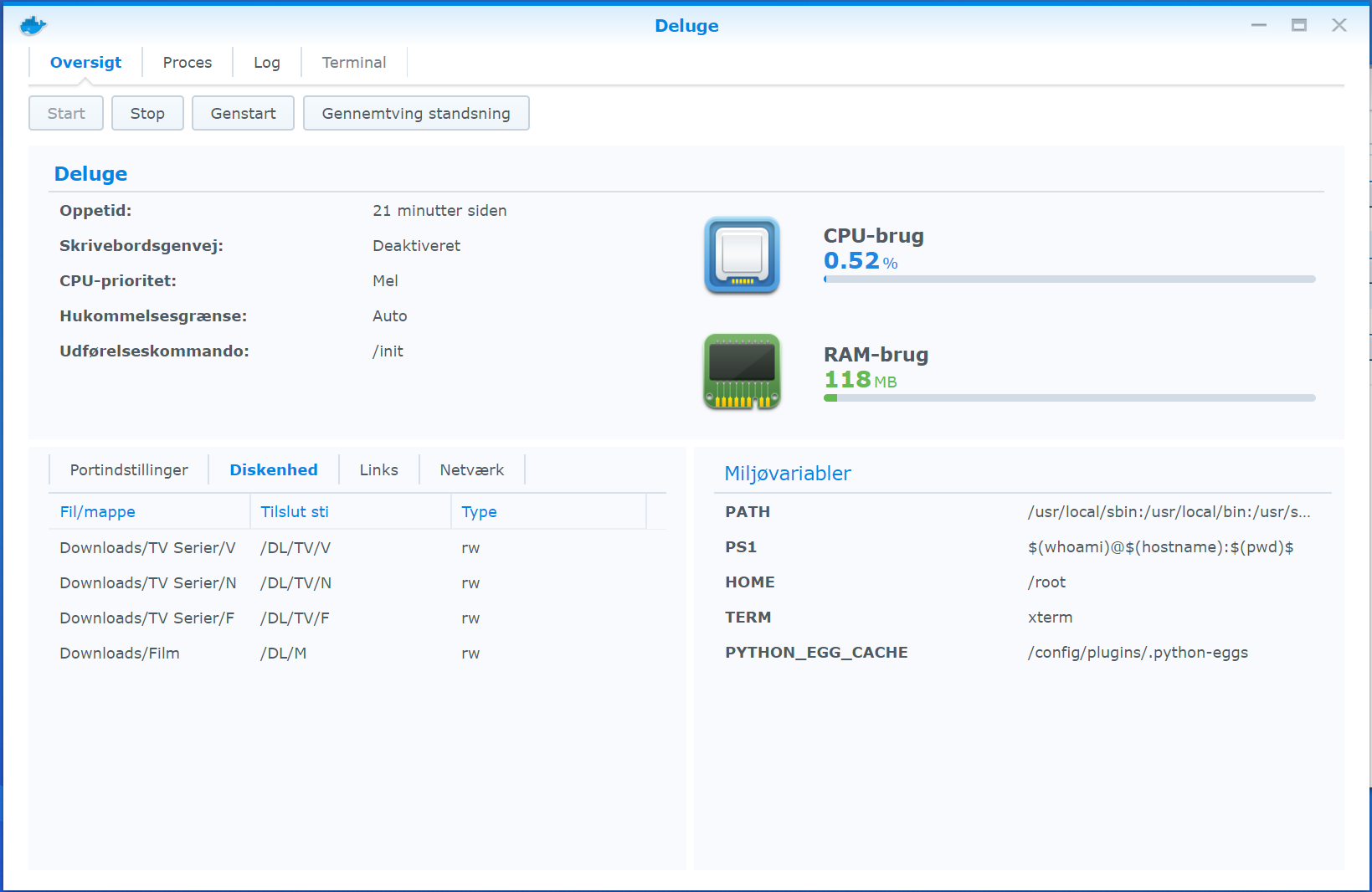 Synology LinuxServer/Deluge - Permission Denied · Issue #41