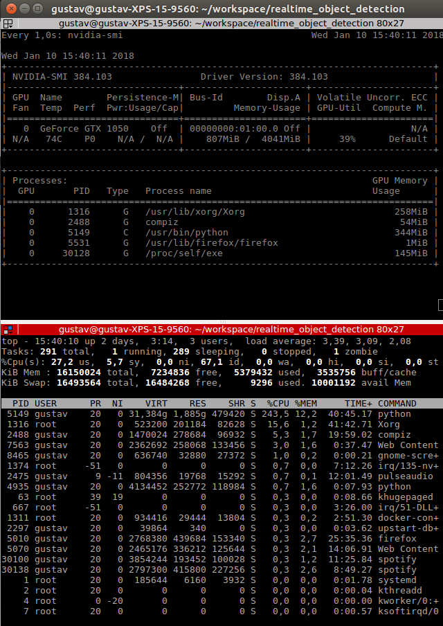 Low GPU and CPU Usage while Inference / realtime detection