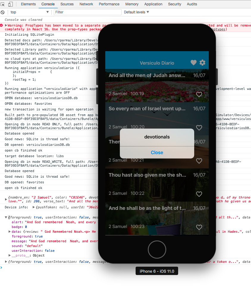 If app is active shows an alert · Issue #582 · zo0r/react-native
