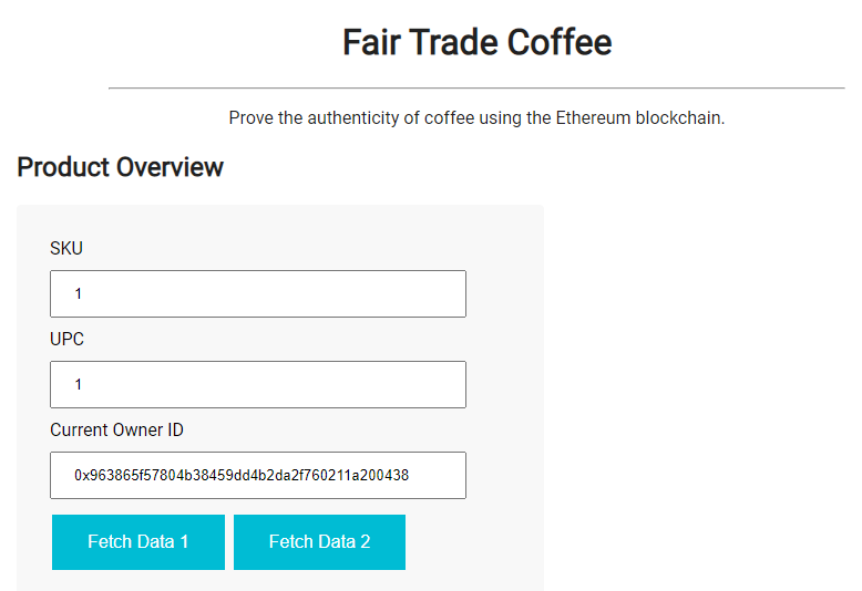 Ethereum DApp for Tracking Items through Supply Chain - <a href=
