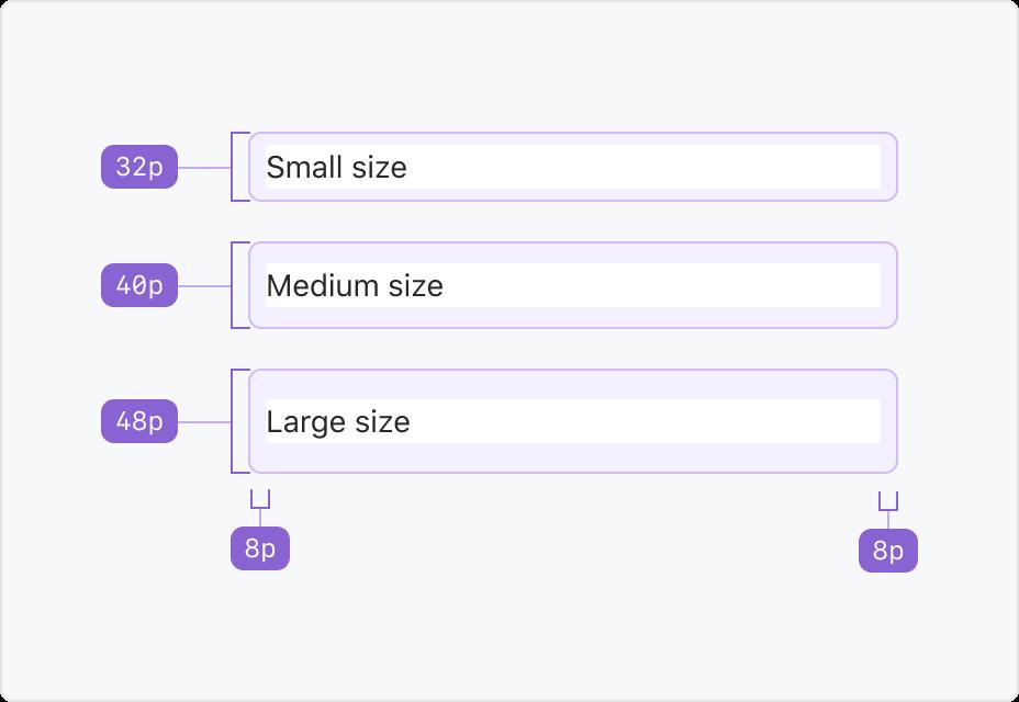 Action list sizes