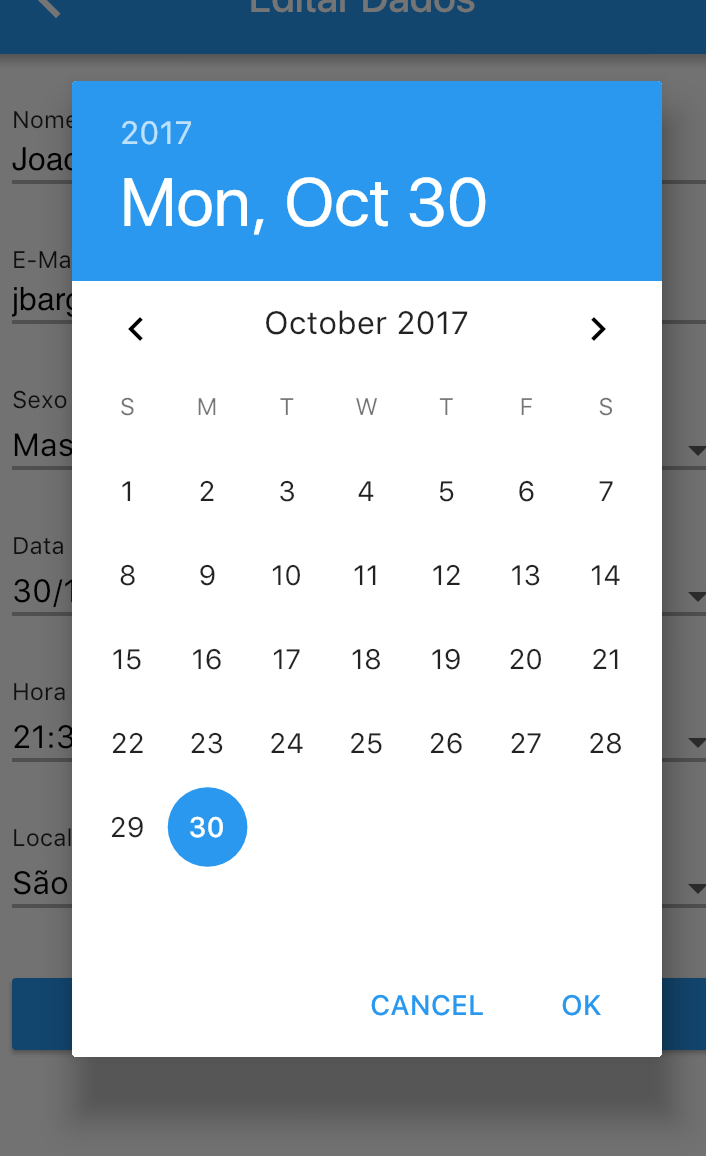 October does not have 31 days in datepicker on iOS · Issue