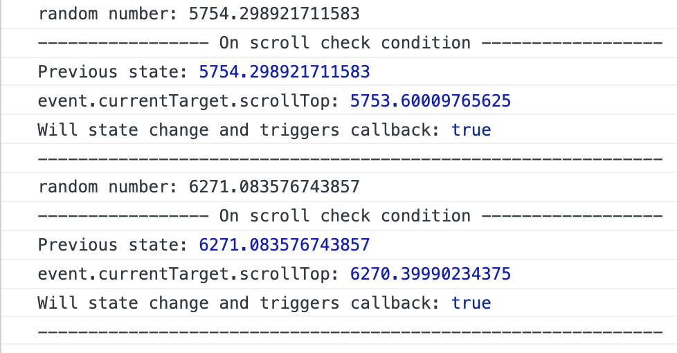 Calling scrollToItem() or scrollTo() triggers onScroll (callback