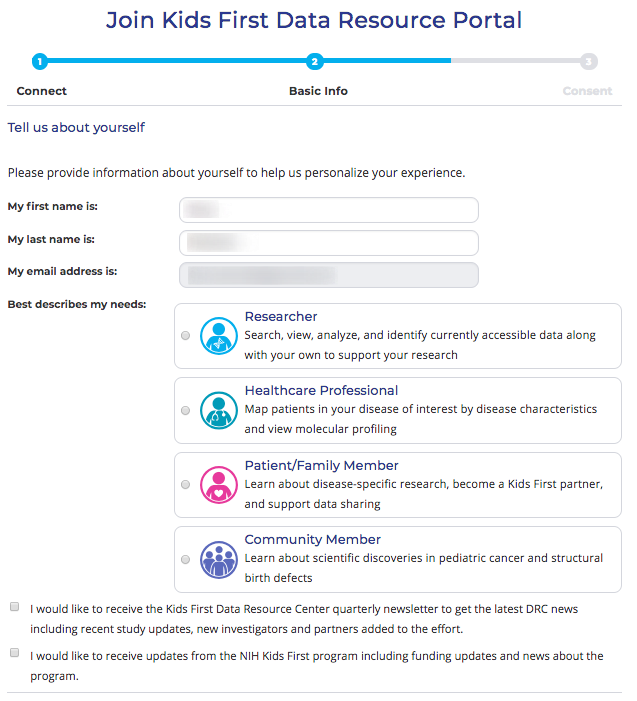 Add new email opt in list to portal registration · Issue