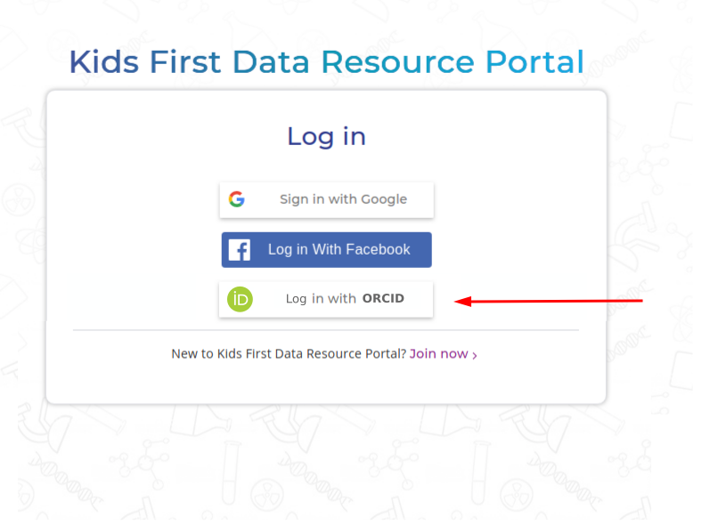 Login with ORCID: front-end · Issue #1771 · kids-first/kf
