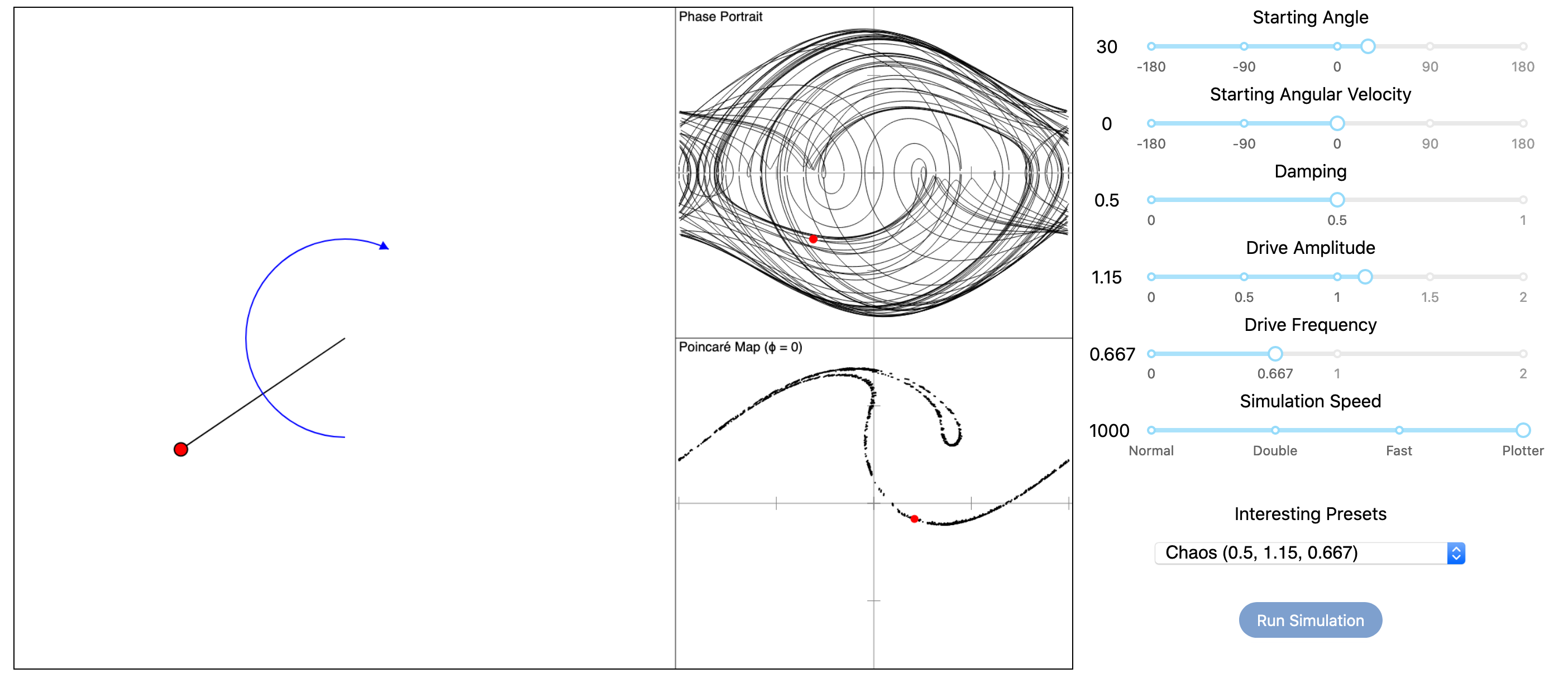 Chaotic Pendulum Screenshot