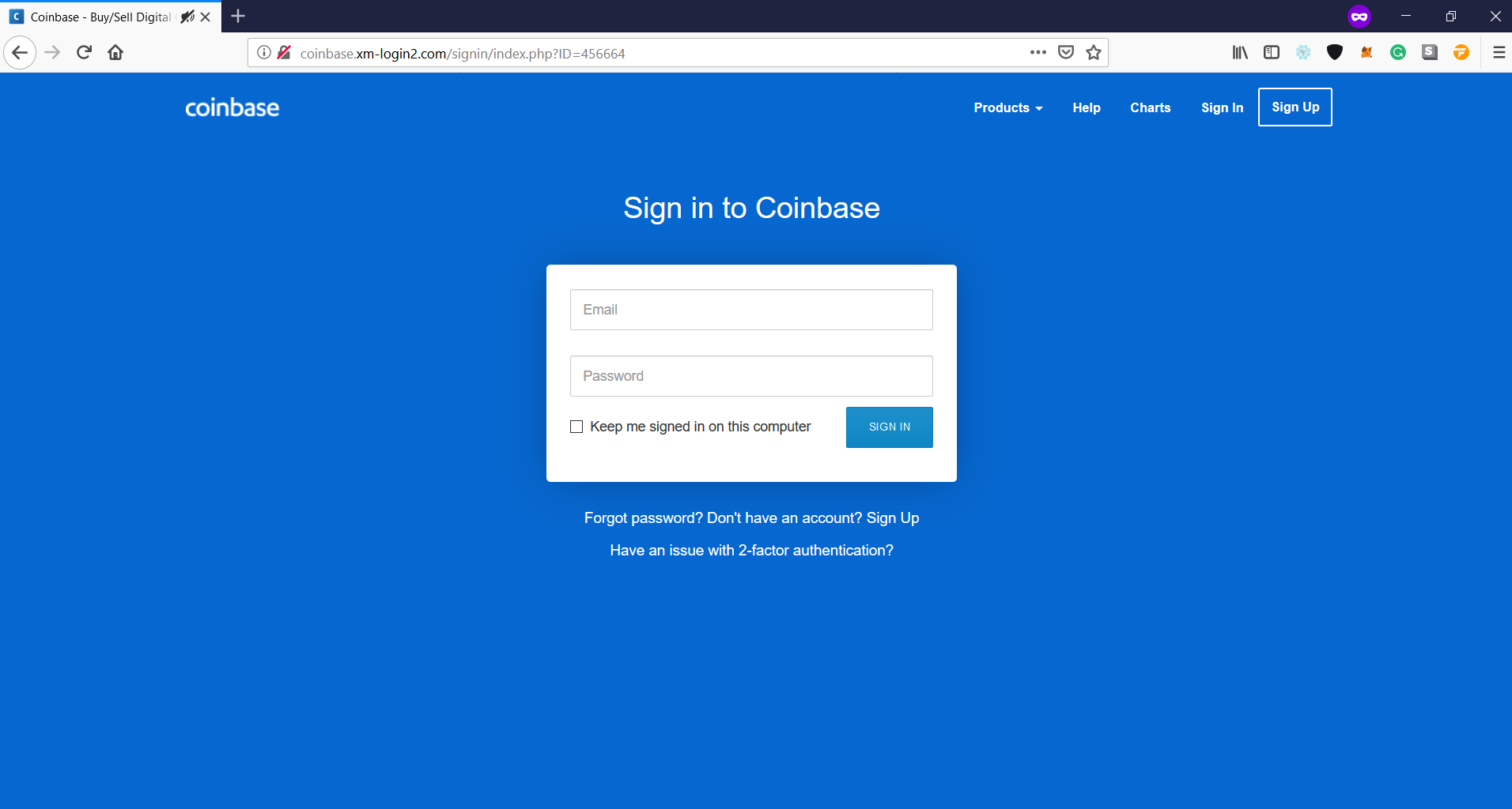 Fake Coinbase [Blacklist Request] · Issue #2642 · MetaMask