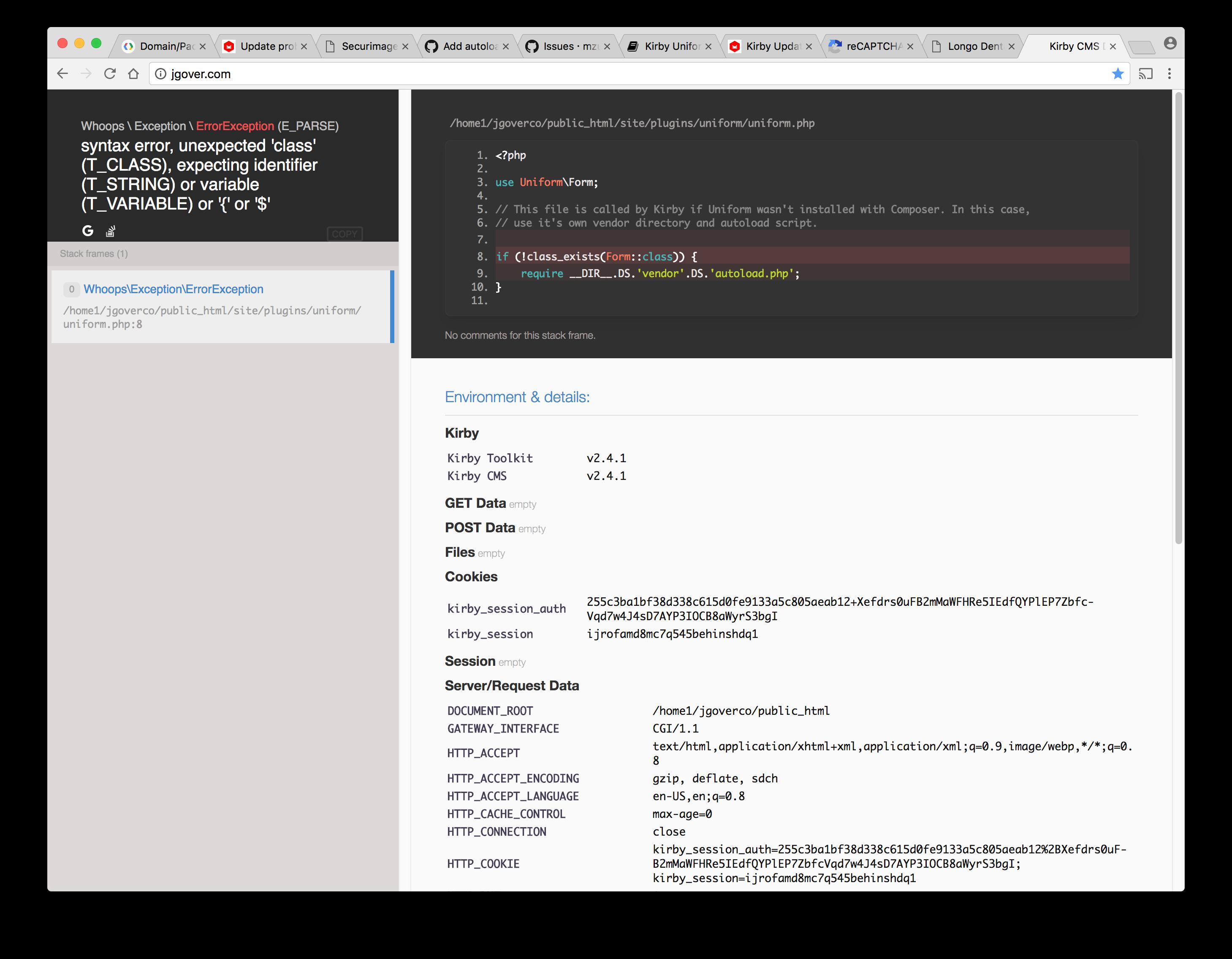 error installing uniform · Issue #130 · mzur/kirby-uniform · GitHub