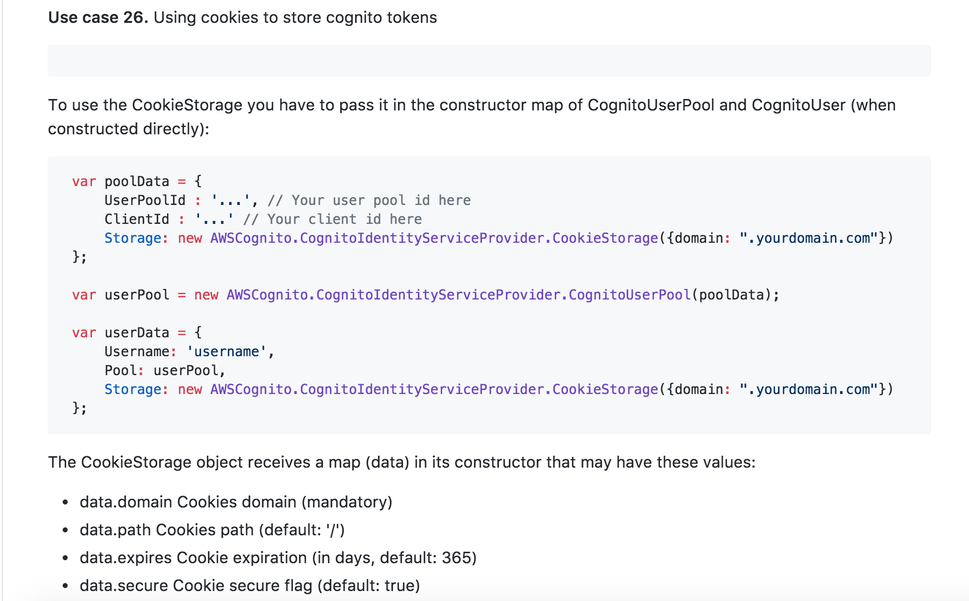 Using cookies to store cognito tokens · Issue #179 · aws