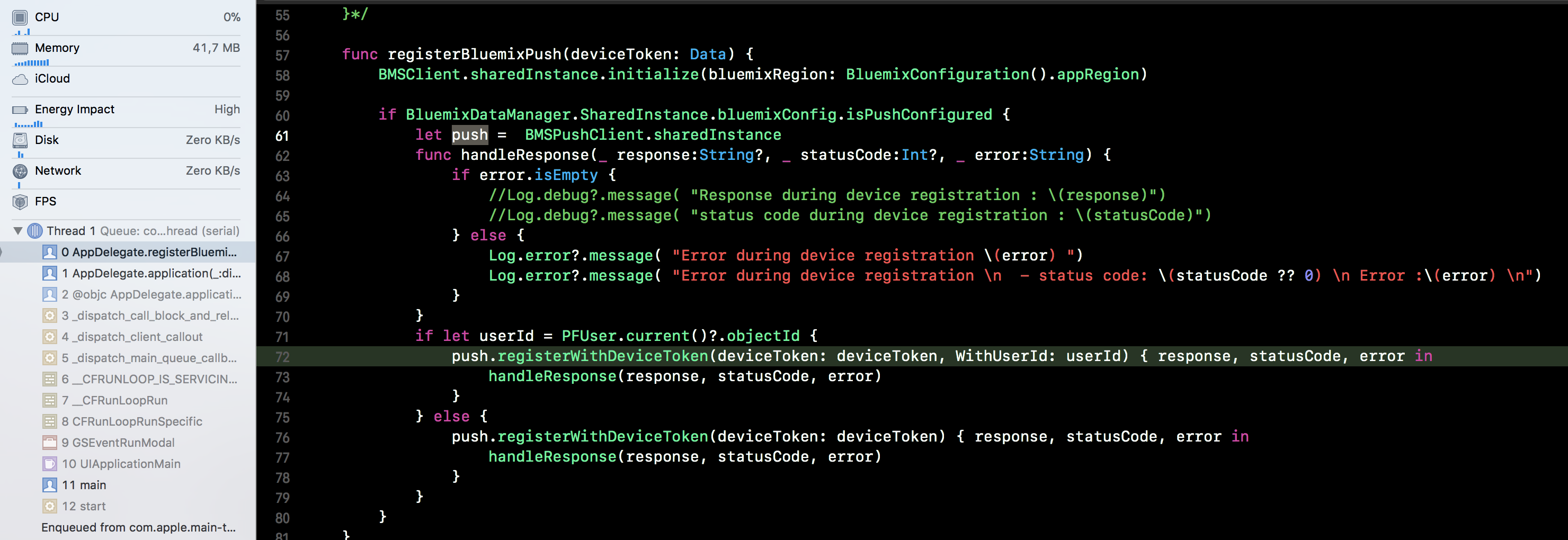 Main Thread Checker: UI API called on a background thread