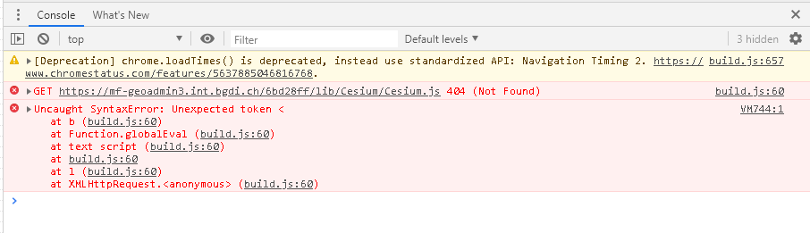cesium js can not be loaded (staging int) · Issue #4911