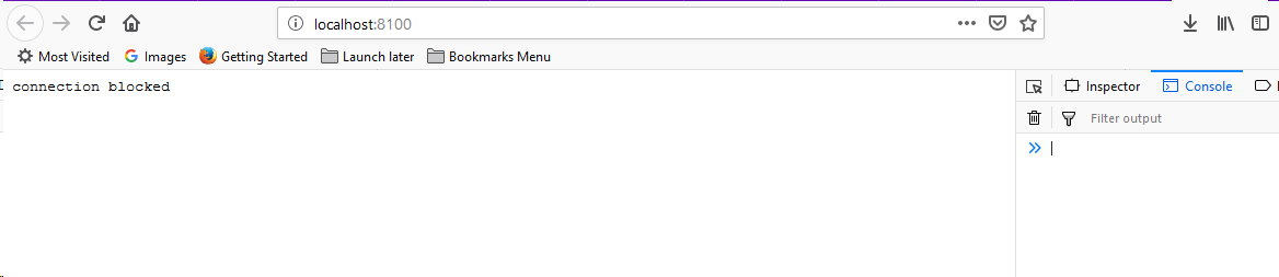Vague Firefox error: