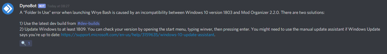 WB not starting if TEMP folder is on different drive (Win 10