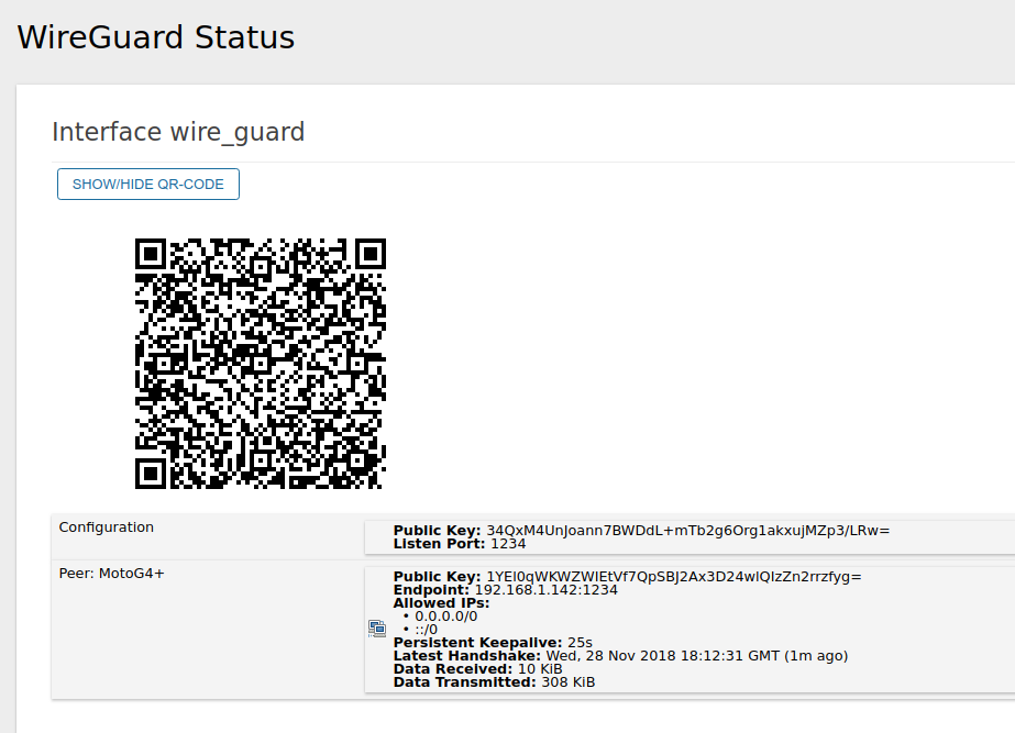 Raise coolness factor - Wireguard VPN status · Issue #323