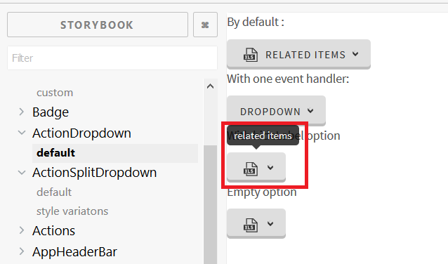 click event on React dropdown button only trigger tooltip · Issue