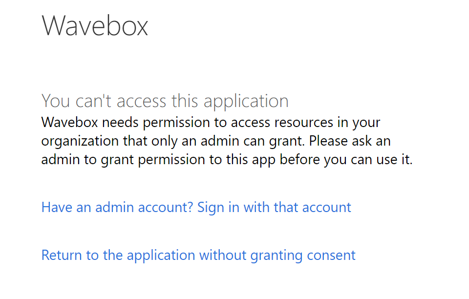 wavebox + Office 365 account problem · Issue #259 · wavebox