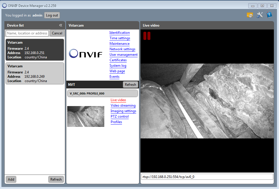 Not able to add Vstarcam web-cam with rtsp, but rtsp works with VLC