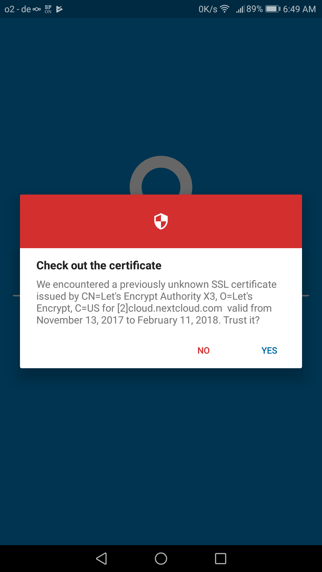 Avoid ssl certificate check if possible issue 20 nextcloud but if the ssl cert check should be avoided its technical and cryptic for non technical end users they wouldnt even know what exactly they should check xflitez Gallery