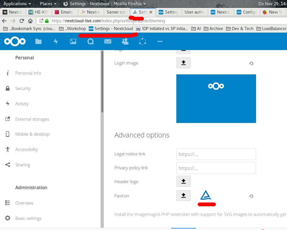 Favicon in NC11  NC14 not working · Issue #7945 · nextcloud