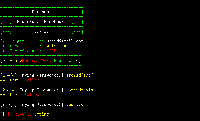 GitHub - Oseid/Facebom: A Python script for Brute Force Attack On