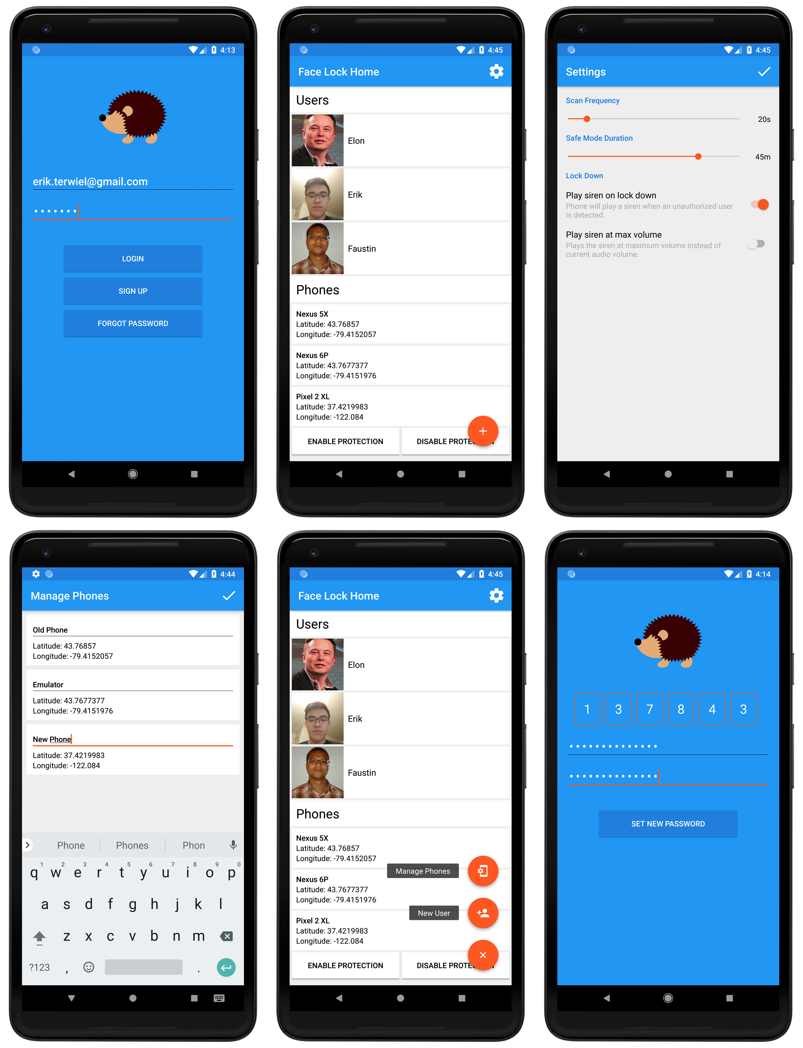 GitHub - erikterwiel/FaceLock: Android and web app that