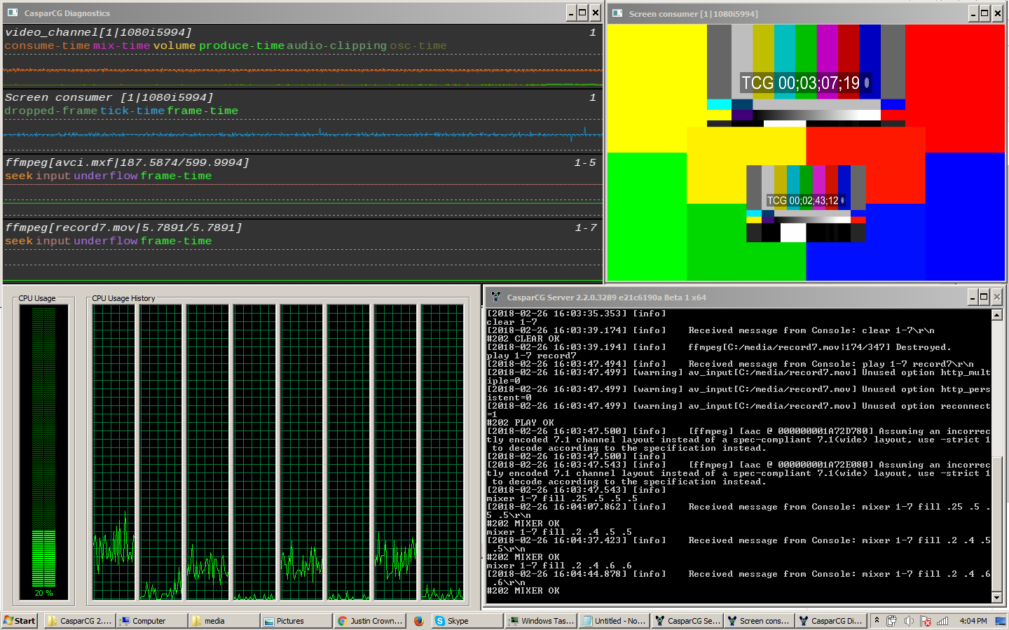 ffmpeg consumer color space · Issue #884 · CasparCG/server · GitHub