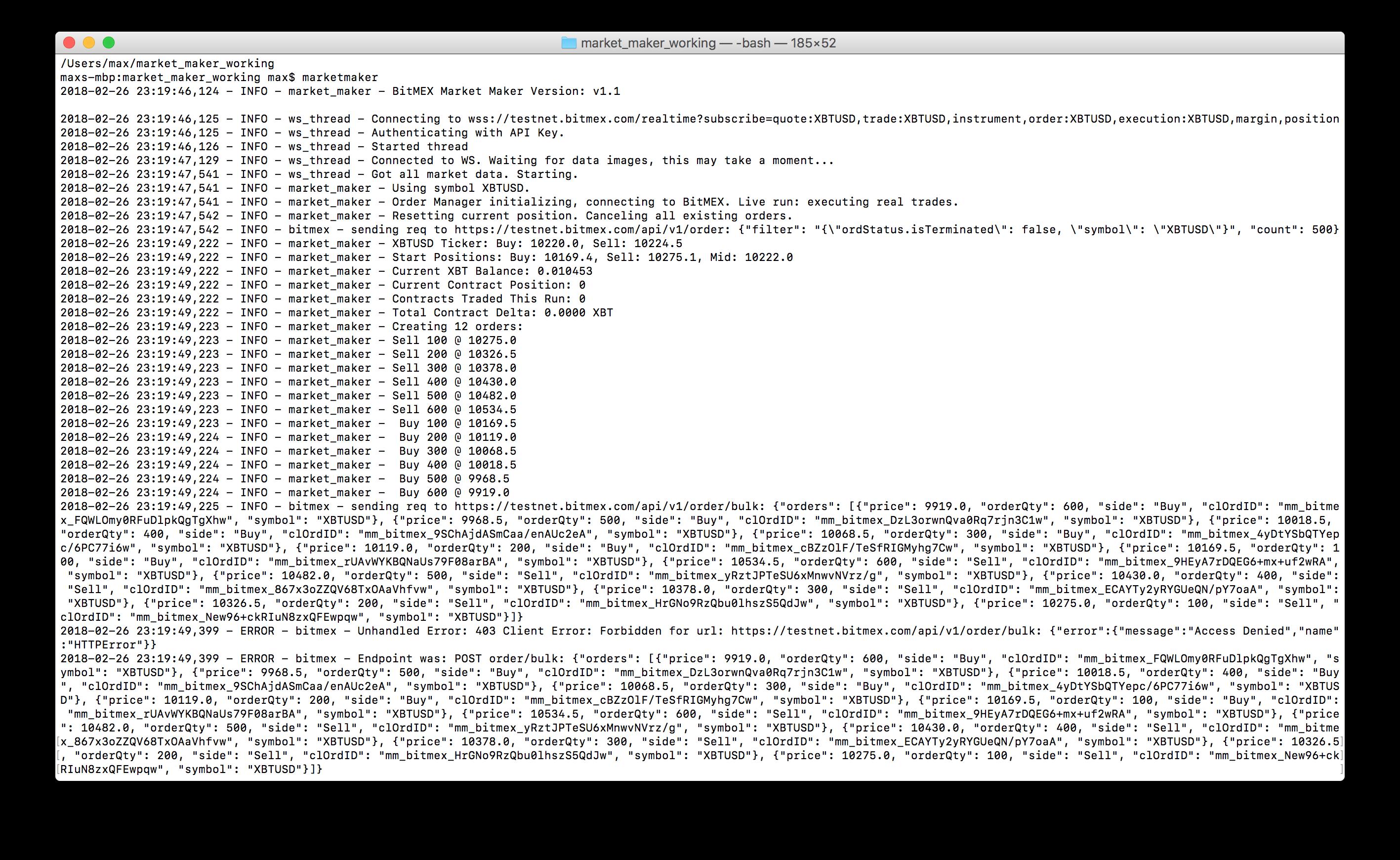 Running into Error 403 Client Error · Issue #80 · BitMEX