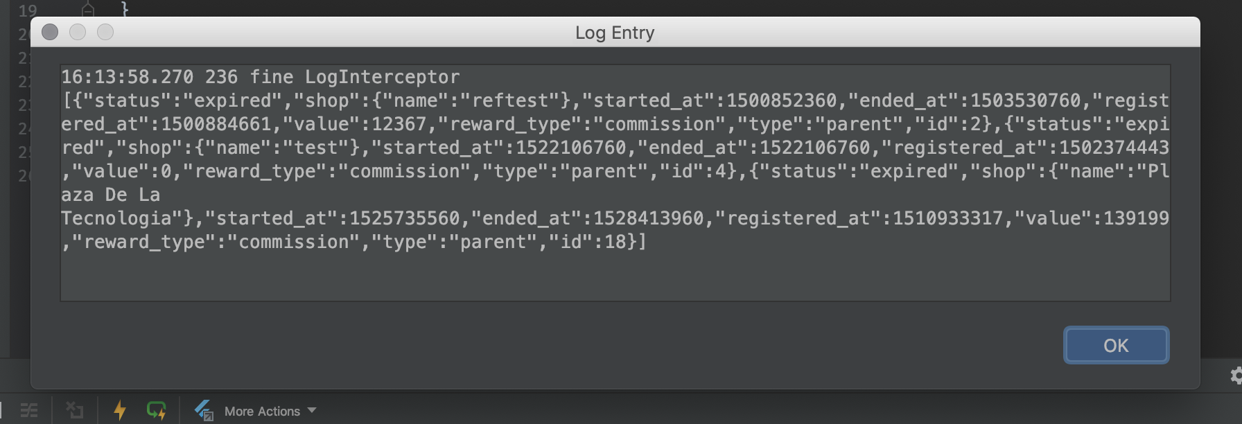Consider formatting JSON in smart log entry popup · Issue #3133