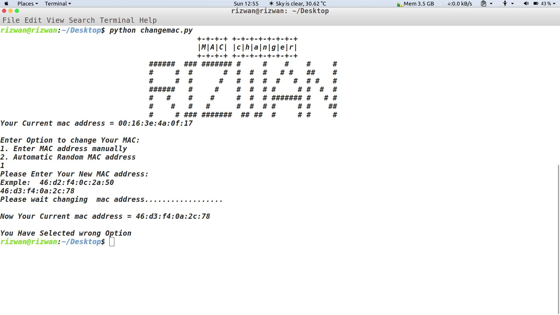 github rizwansoaib changemac change mac address of linux ubuntu rh github com