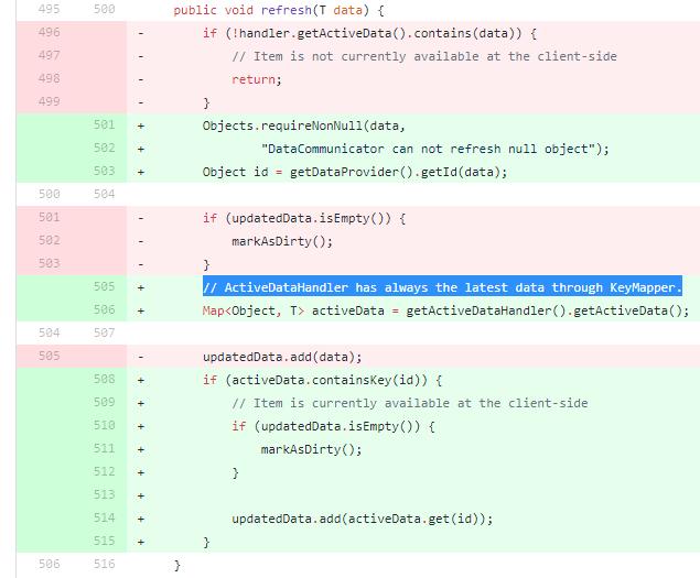 Grid refresh broken · Issue #10152 · vaadin/framework · GitHub