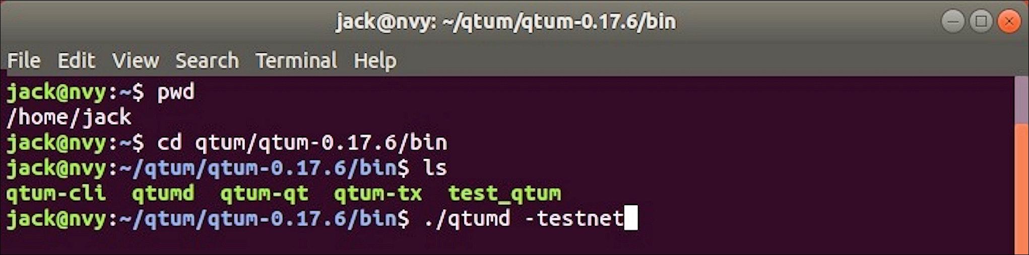 4 qtumd-testnet Linux