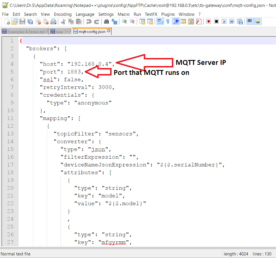 MQTT Configuration in /etc/thingsboard/conf/thingsboard yml