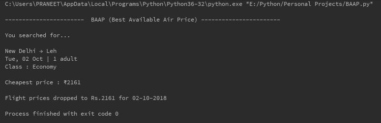 GitHub - praneetk2704/BAAP-Best-Available-Air-Price-: A web scraper