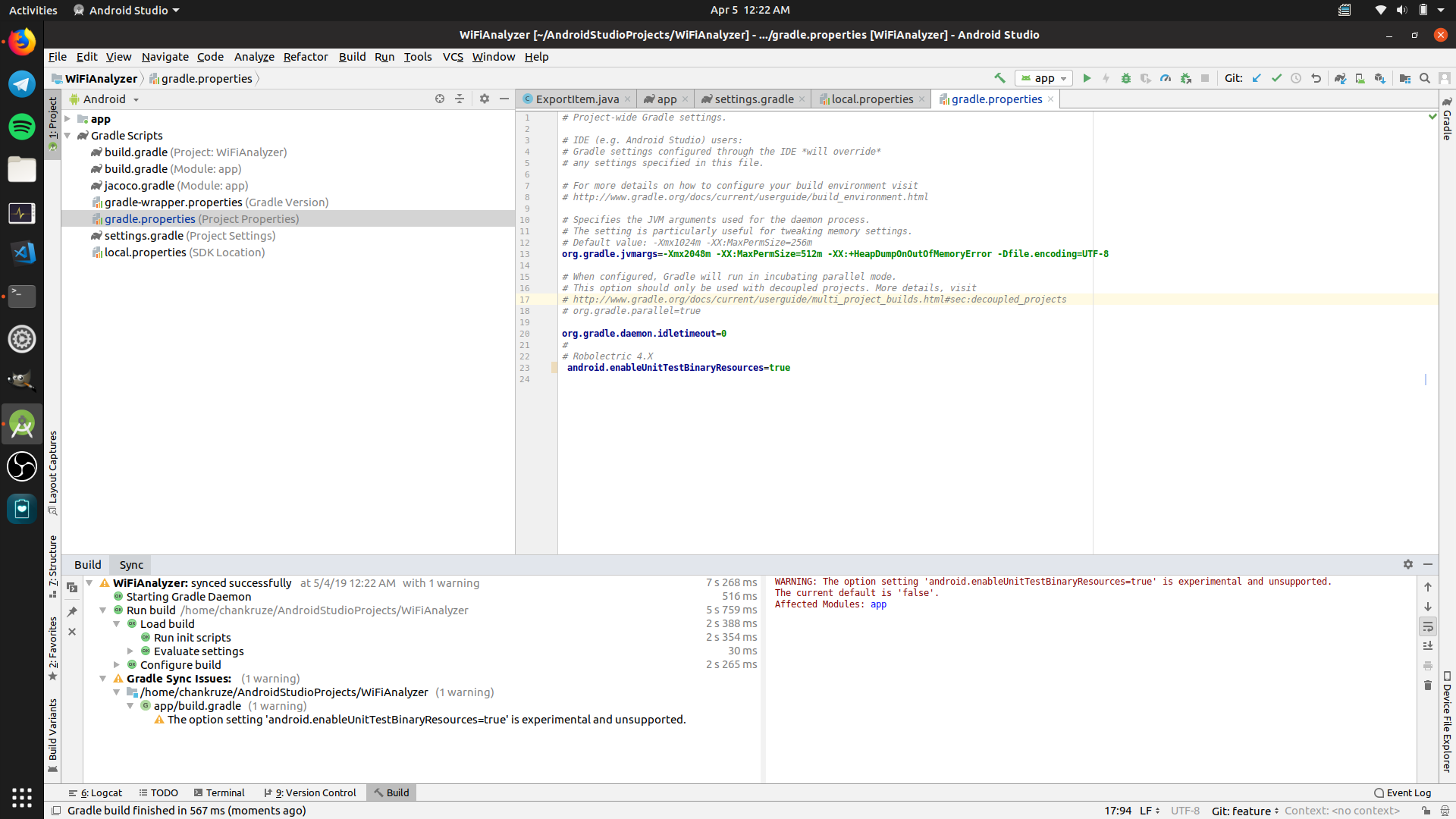 Latest Android Studio and Latest Jacoco build error