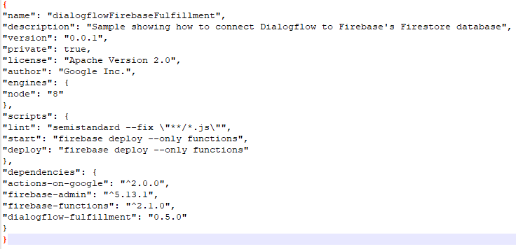 Error connecting to firebase database from dialogflow · Issue #242