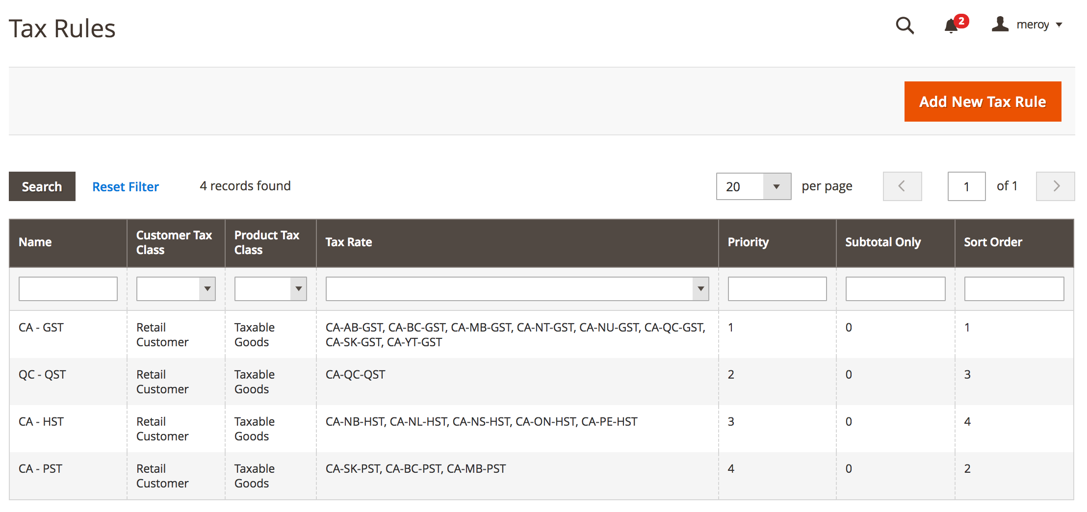 Tax Summary with multiple rates doesnt show details on