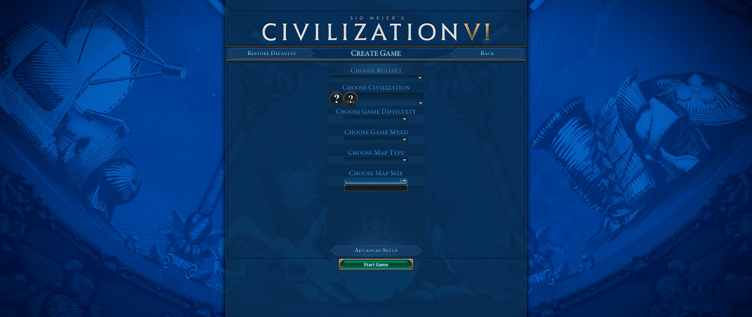 Unable to run the game: empty menu · Issue #94 · Gedemon/Civ6-YnAMP