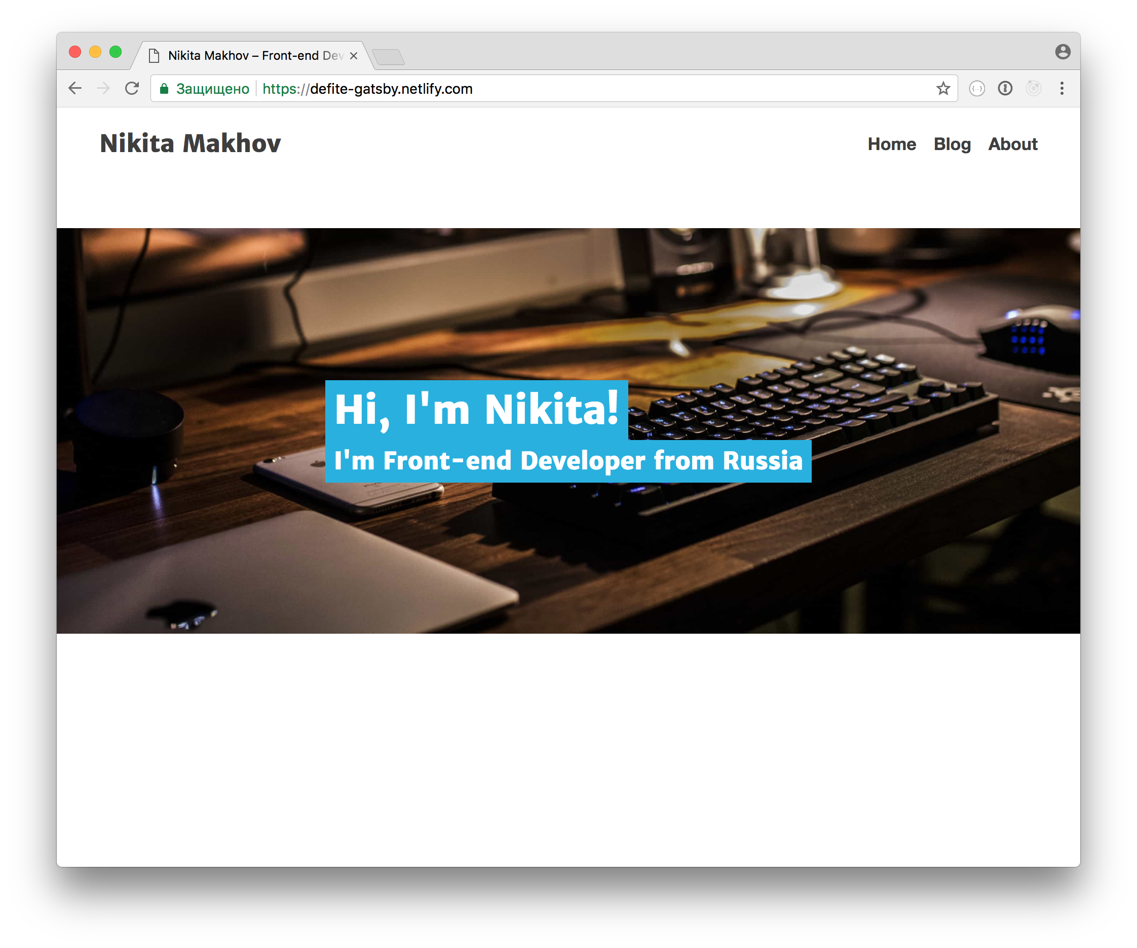 Personal site built on Gatsby