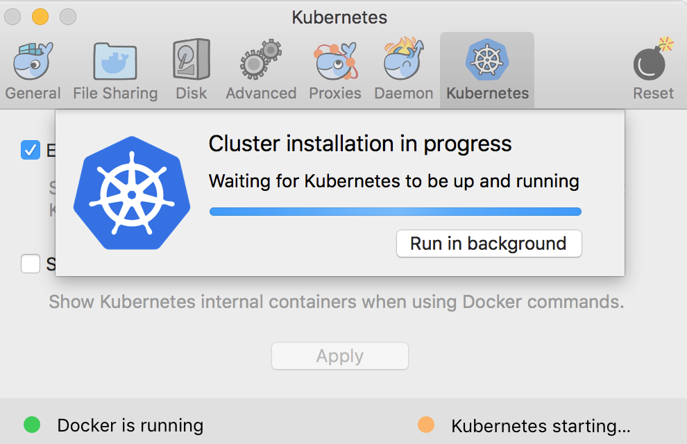 Kubernetes stuck in