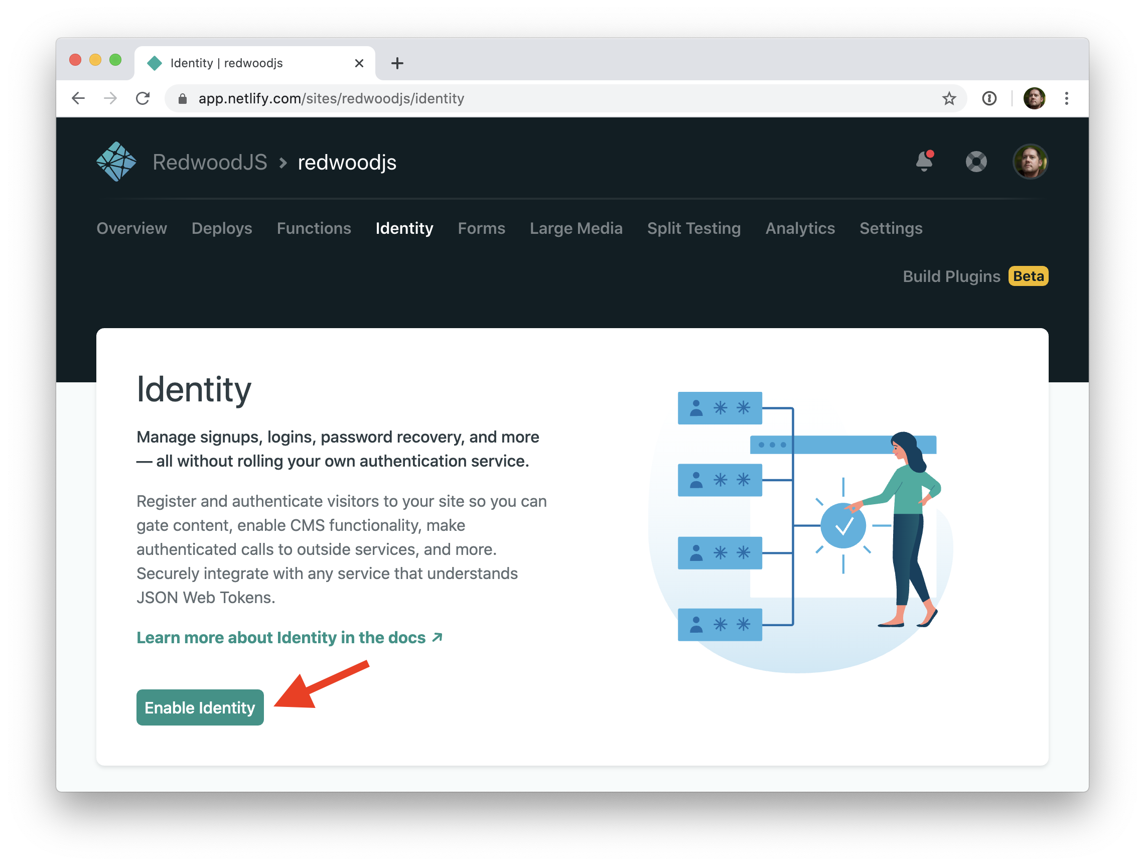 Netlify Identity screenshot