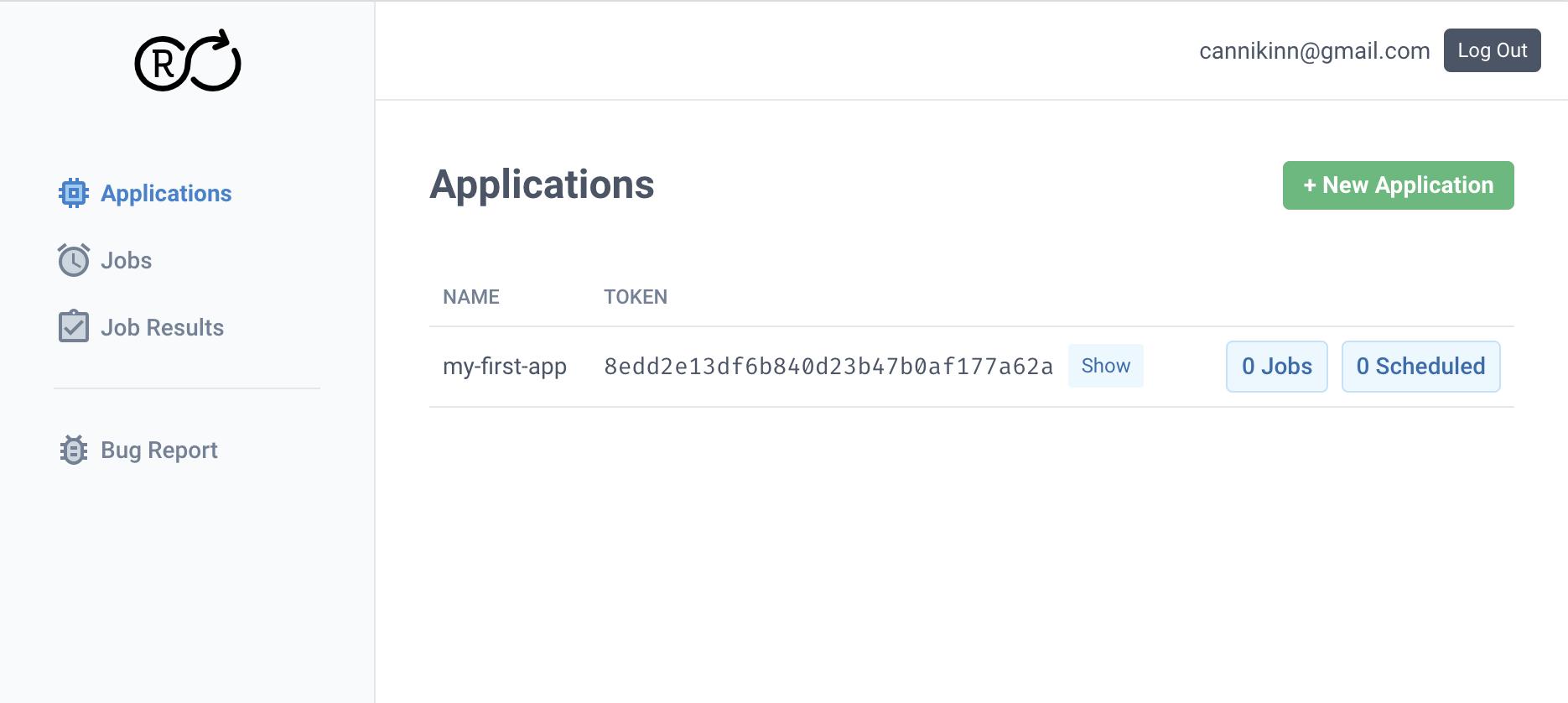 Application token