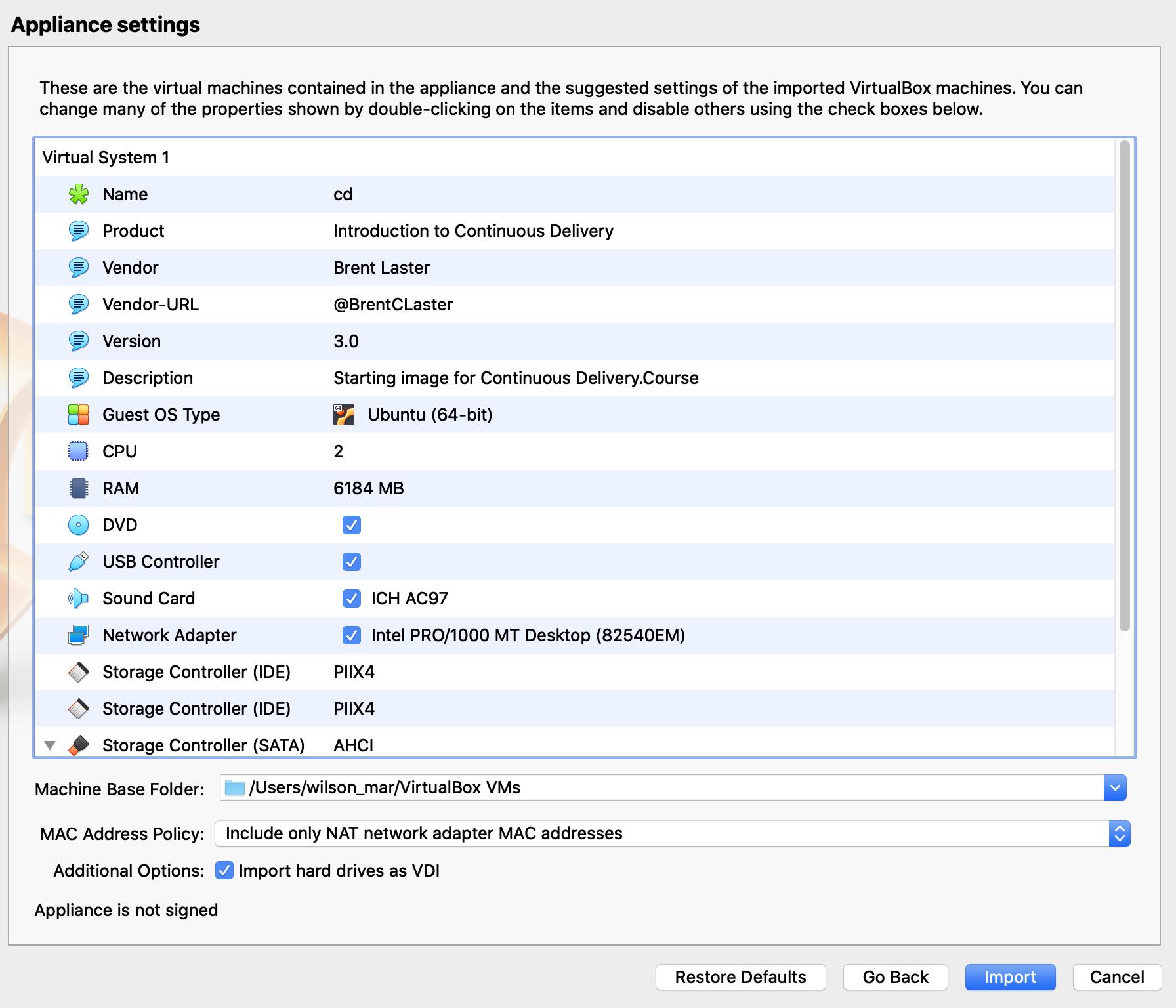 virtualbox-appliance-settings
