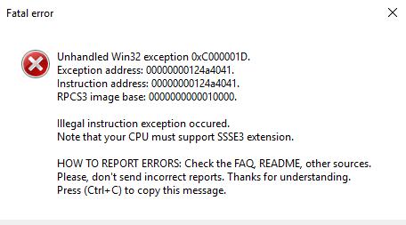 LLVM SSSE3 CPU Compiling Error...