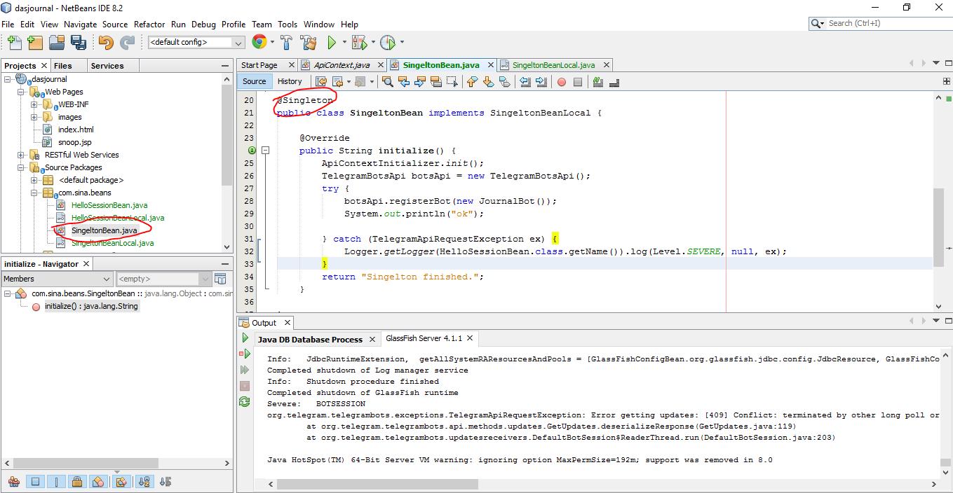 Java EE · Issue #1 · rubenlagus/TelegramBots · GitHub