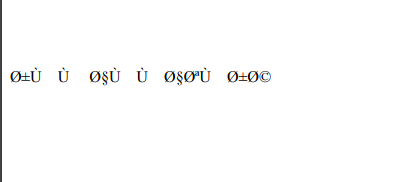 puppeteer from html to pdf arabic fonts are not showing · Issue