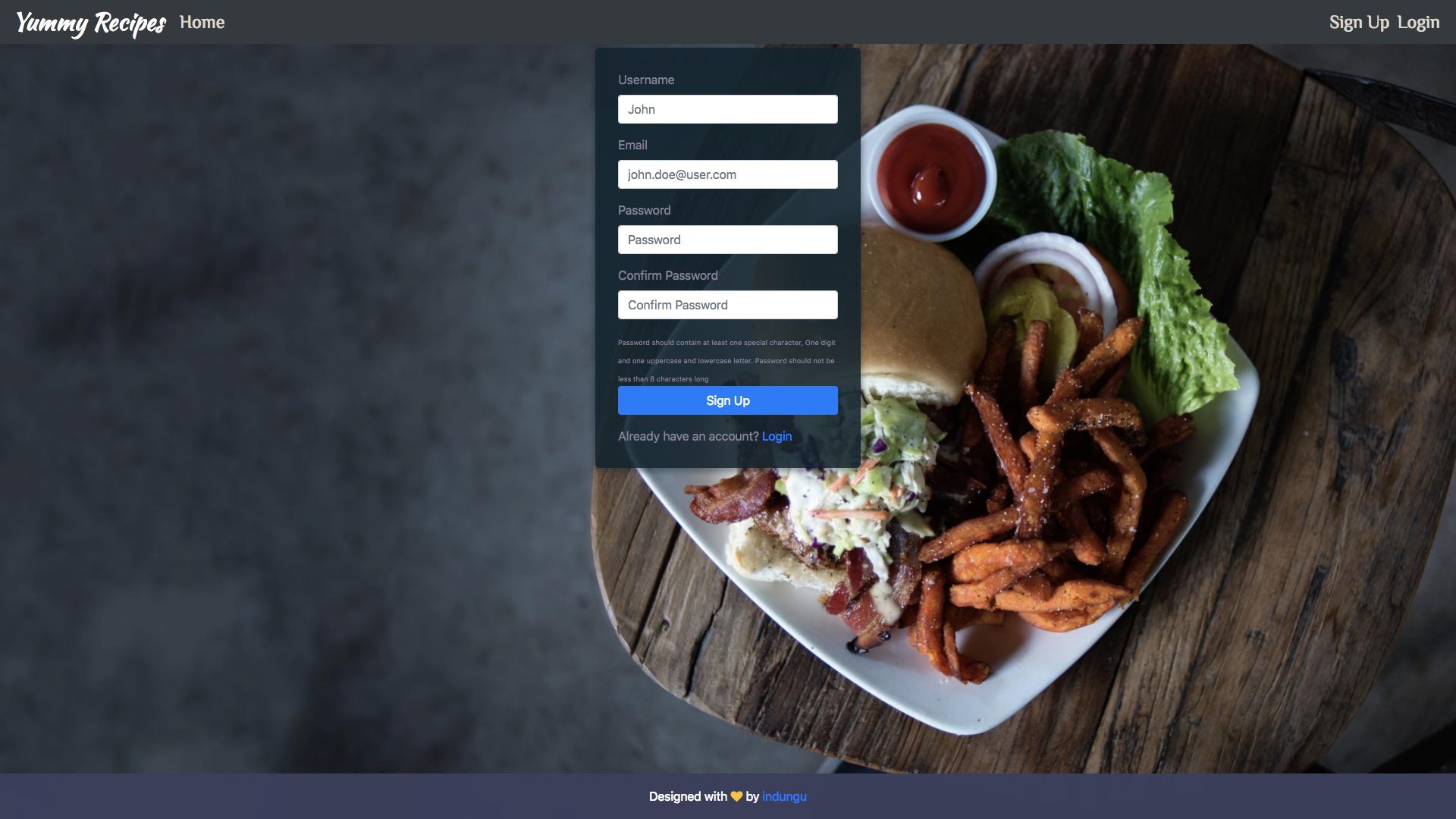 GitHub - indungu/yummy-react: A React Frontend
