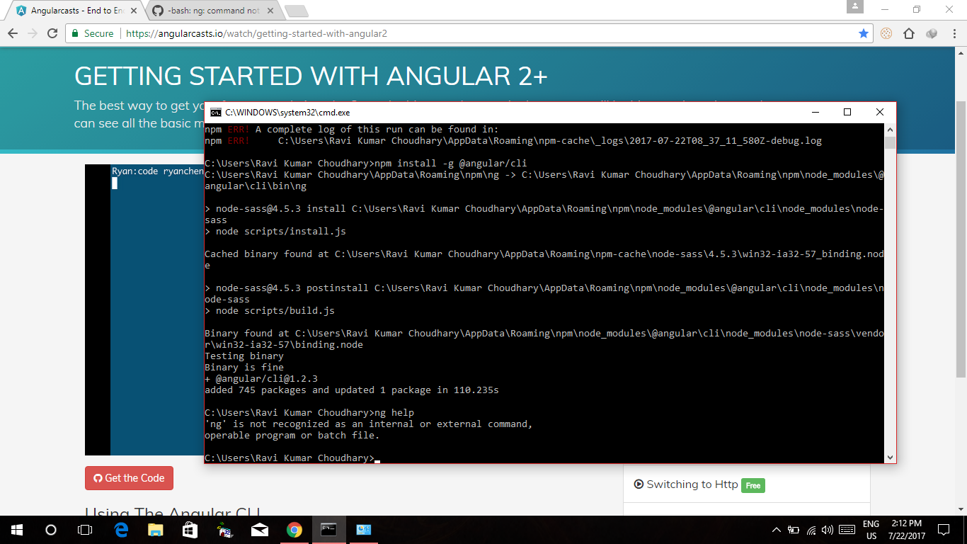 bash: ng: command not found · Issue #5021 · angular/angular