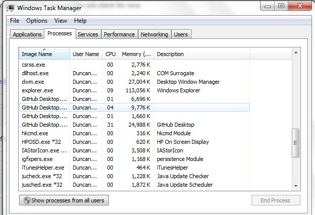 Github Desktop always running in the background · Issue